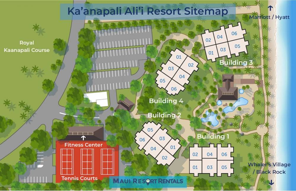 Kaanapali Alii Resort Map