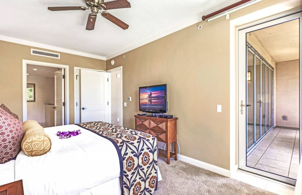 Step onto the balcony right from the master bedroom
