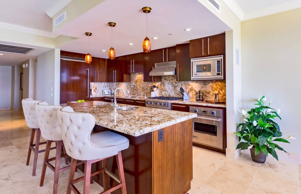 Professional chef's kitchen with Viking appliances