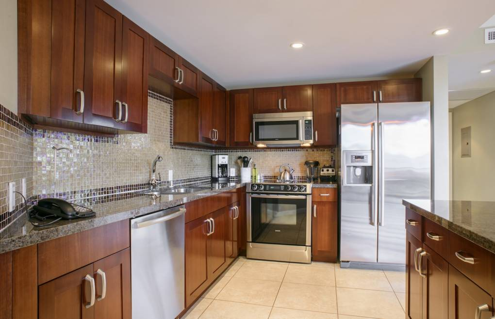 With granite counters and stainless Bosch appliances