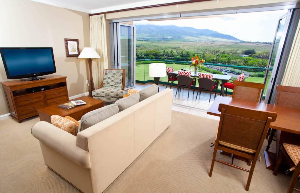 Open the retractable doors for a relaxing indoor/outdoor living experience