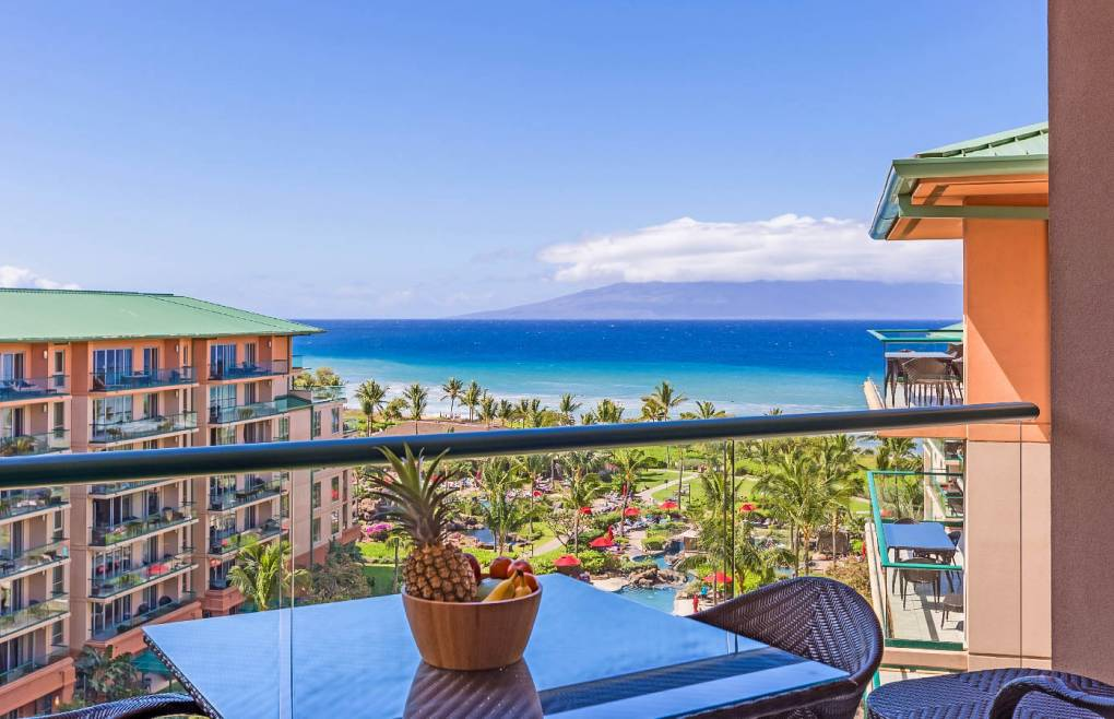 Boasting gorgeous views of the ocean and Maui's neighbor island of Lanai