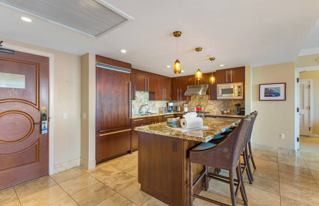 Offering a gourmet chef's kitchen with Viking appliances
