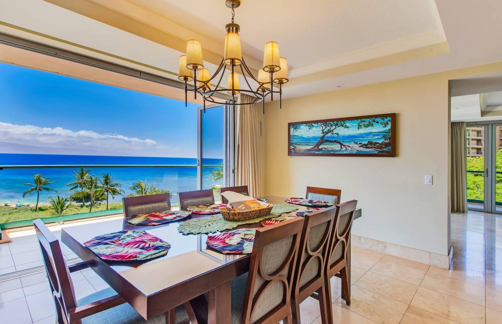 Enjoy the scenery at your private oceanfront table with seating for 8