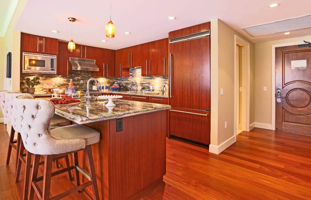 Featuring a professional chef's kitchen with Viking appliances