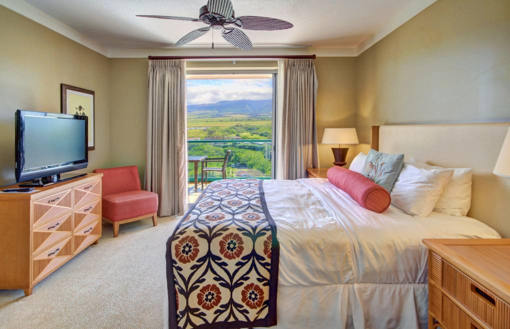 Enjoys the lush mountain views while you relax in bed
