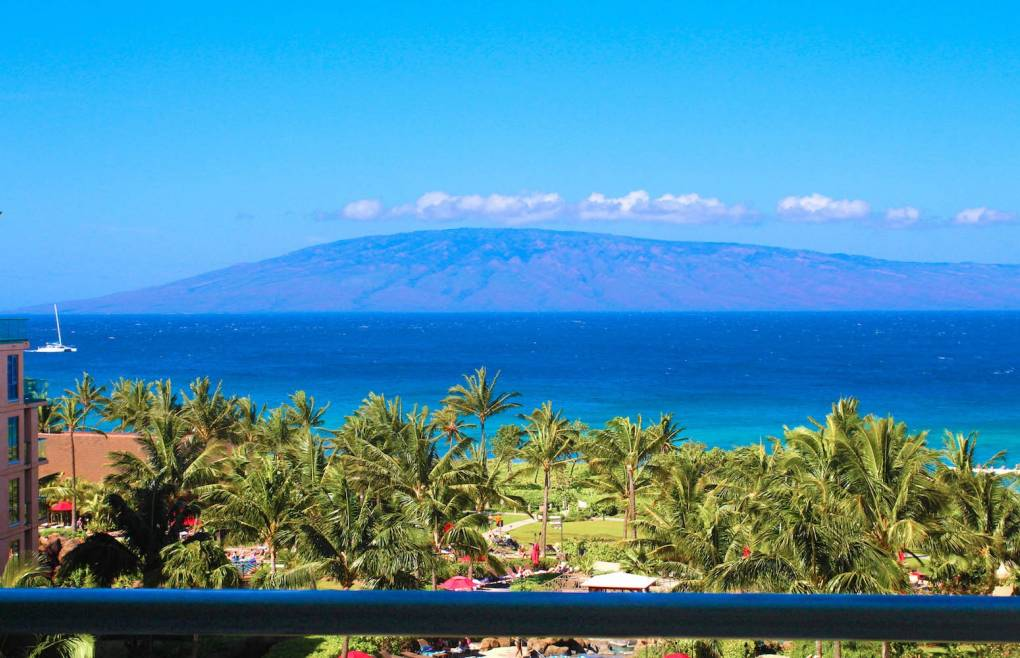 With views of Maui's neighbor island of Lanai