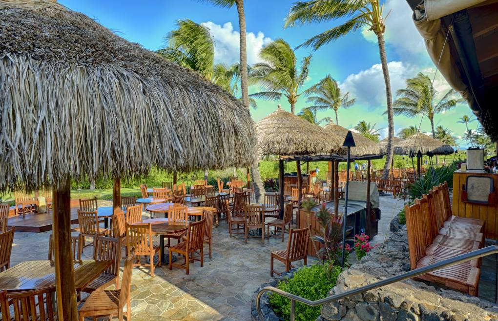 Enjoy a meal at Honua Kai's famous Duke's Beach House Restaurant