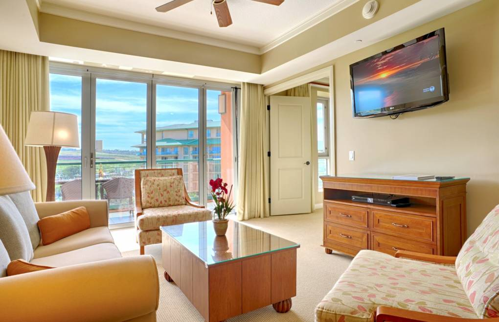 With a wall-mounted flat panel TV & Bose surround sound