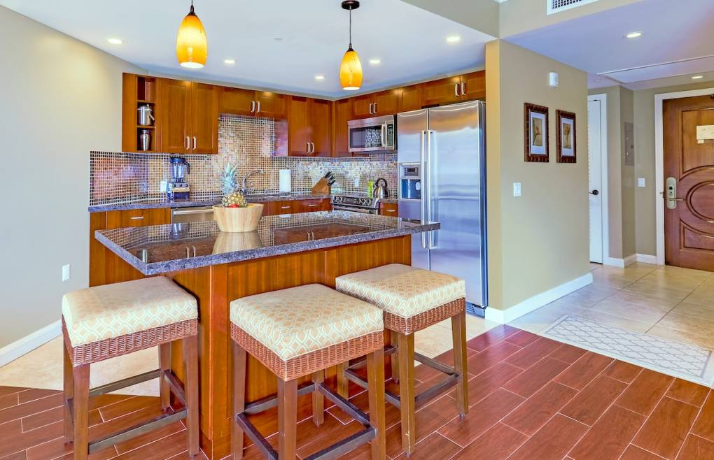 With upgraded flooring, stainless Bosch appliances, and granite countertops