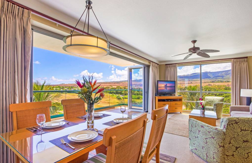 Take in the lush West Maui Mountain views from the fantastic corner vantage point