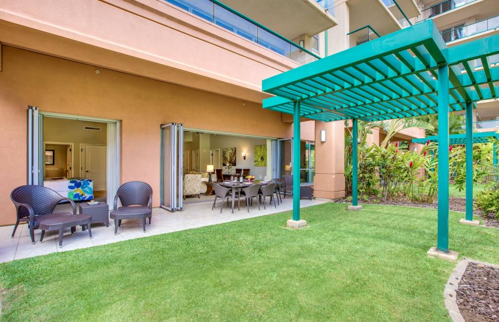 An upgraded 2 bedroom suite boasting one of the largest lawn areas on the entire property