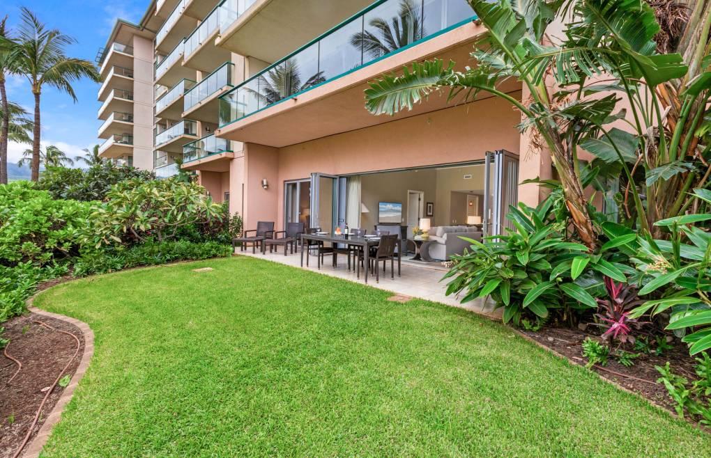 Enjoy a large adjacent lawn area