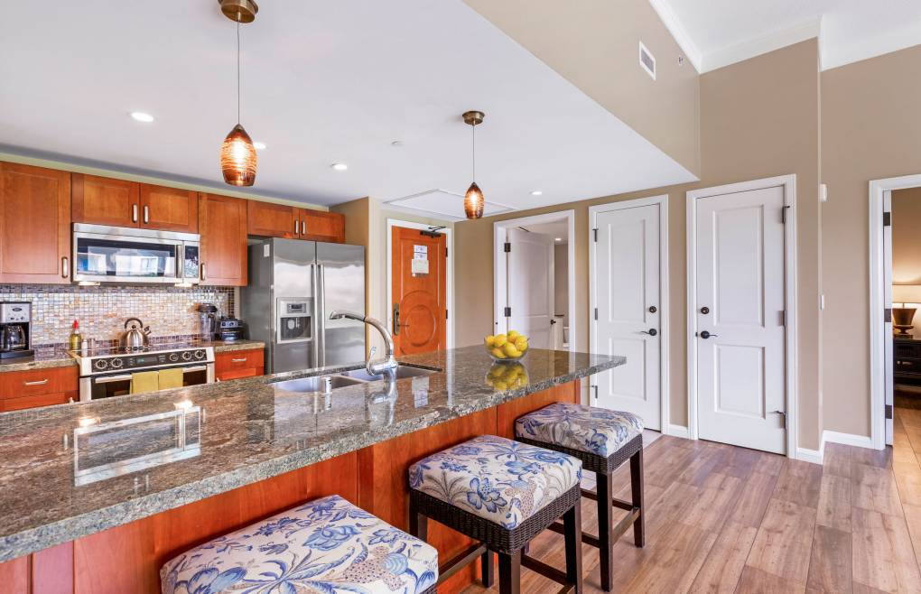 With granite counters, Bosch appliances, and all the necessary cookware