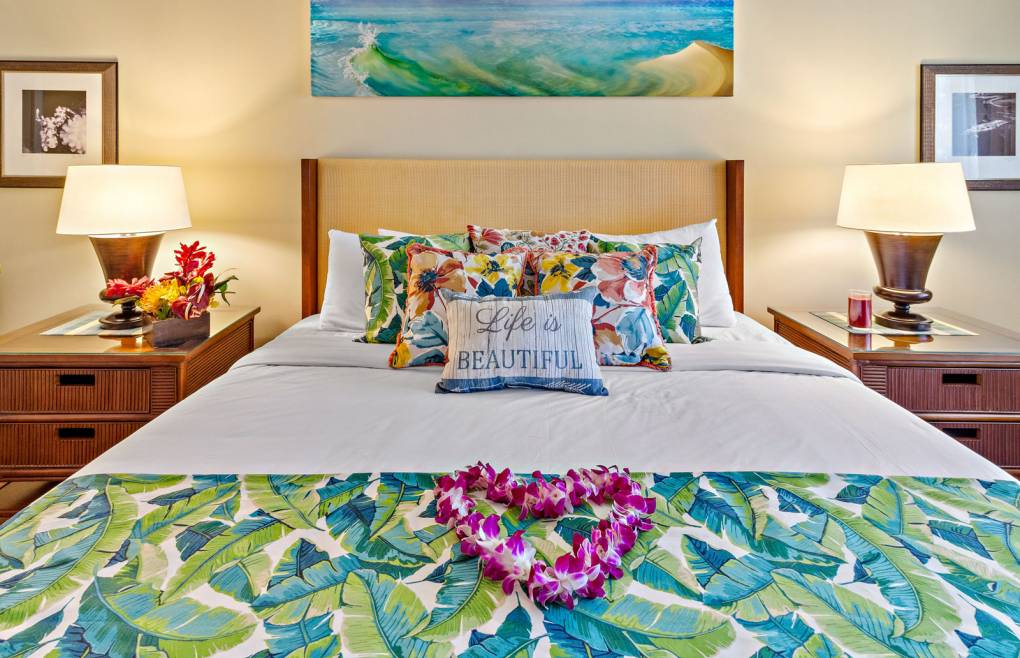 Rest well in the master bedroom's sumptuous king size bed