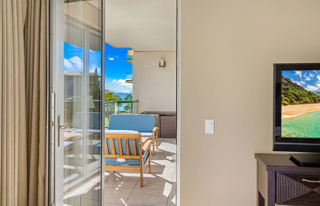 Enjoy views of the ocean right from the master bedroom