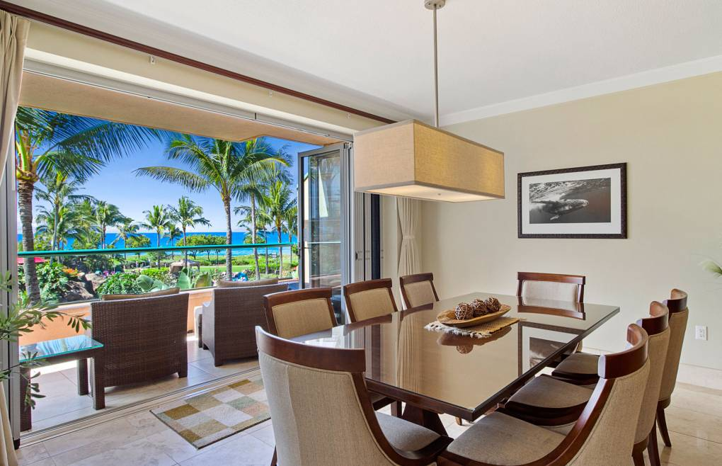 Enjoy the scenery at your private oceanfront table