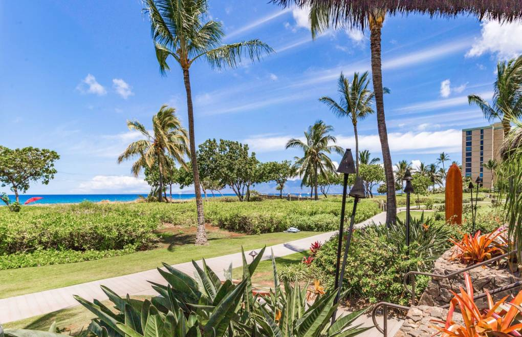 Go for a stroll on the Kaanapali North Beach Path