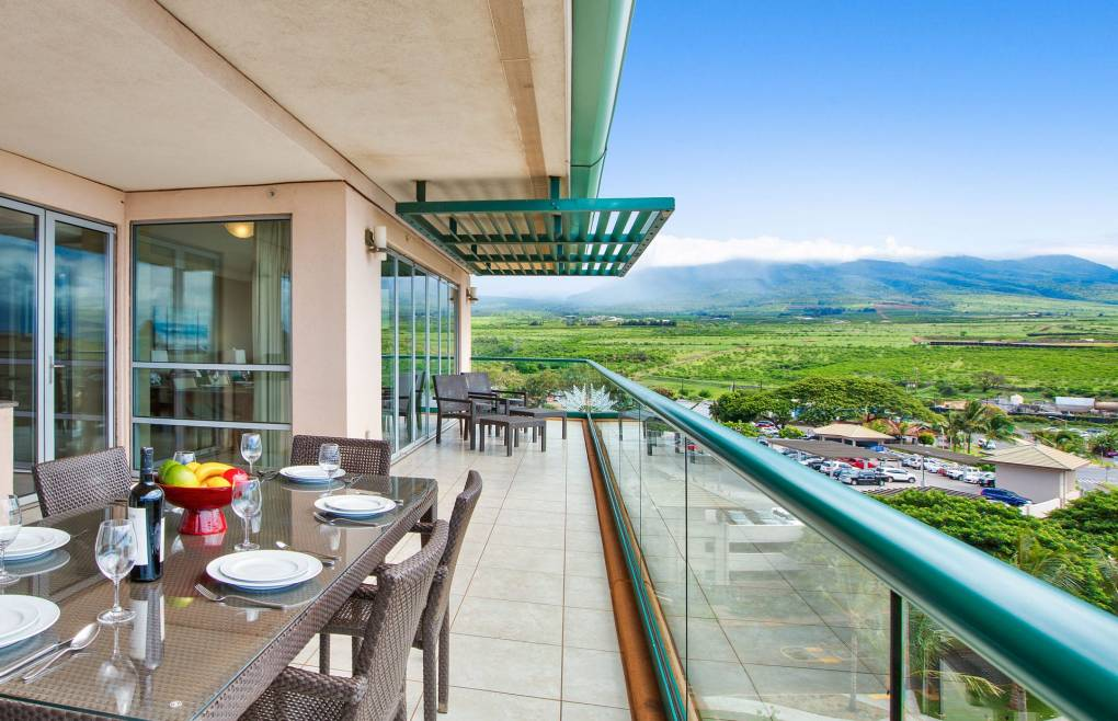 Enjoy plenty of space to dine outside and take in the views
