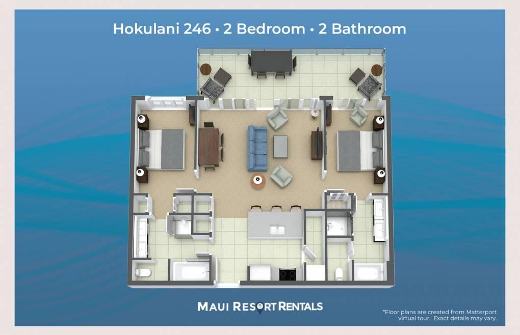 Honua Kai Hokulani 246 Floor plans