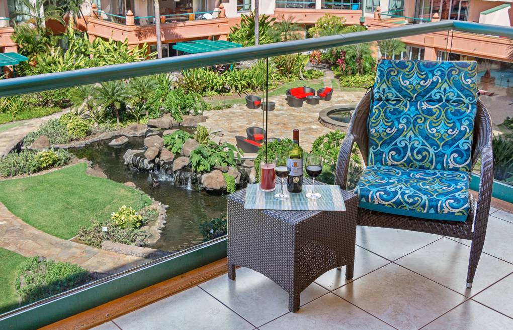 Relax in the tranquil Konea Tower courtyard