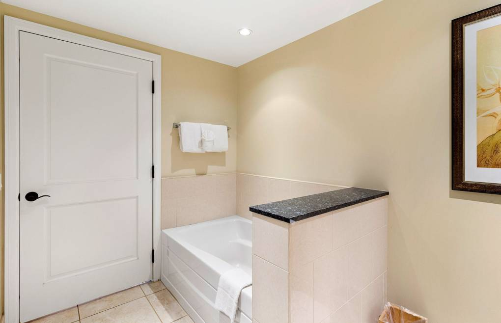 Also with a separate soaking tub