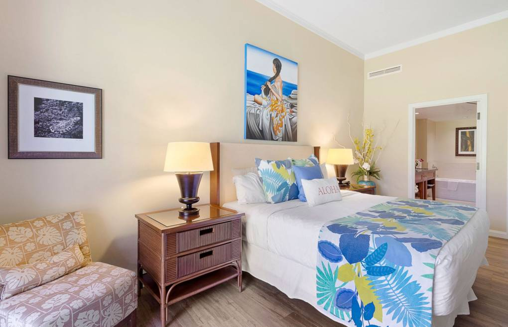 Tastefully decorated with custom artwork throughout