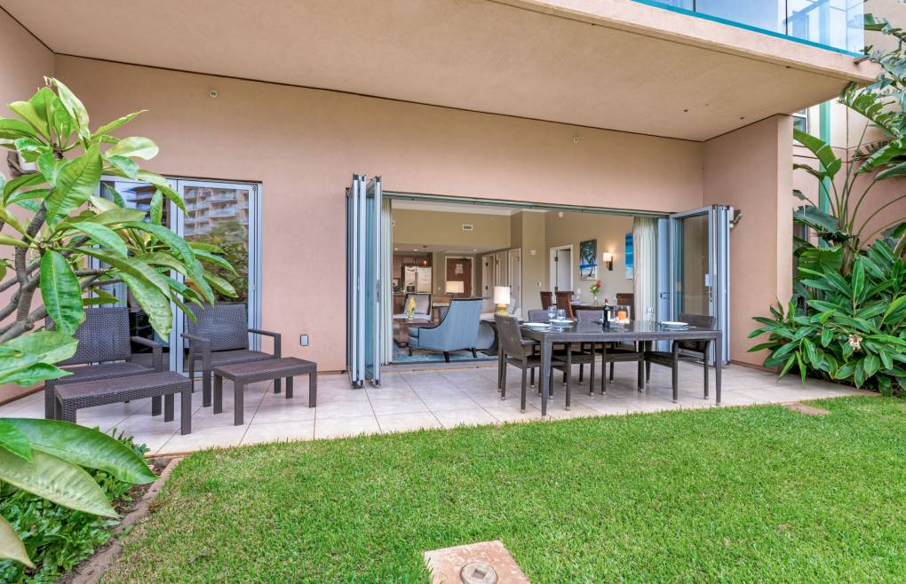 The pools, beach, and BBQs are mere steps away