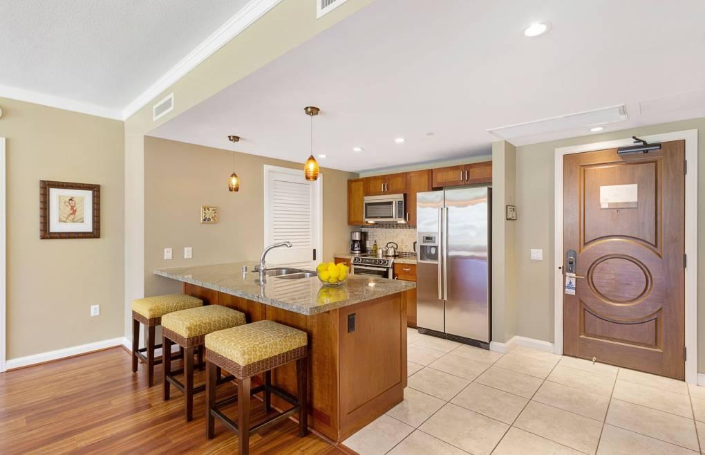 Featuring a full modern kitchen