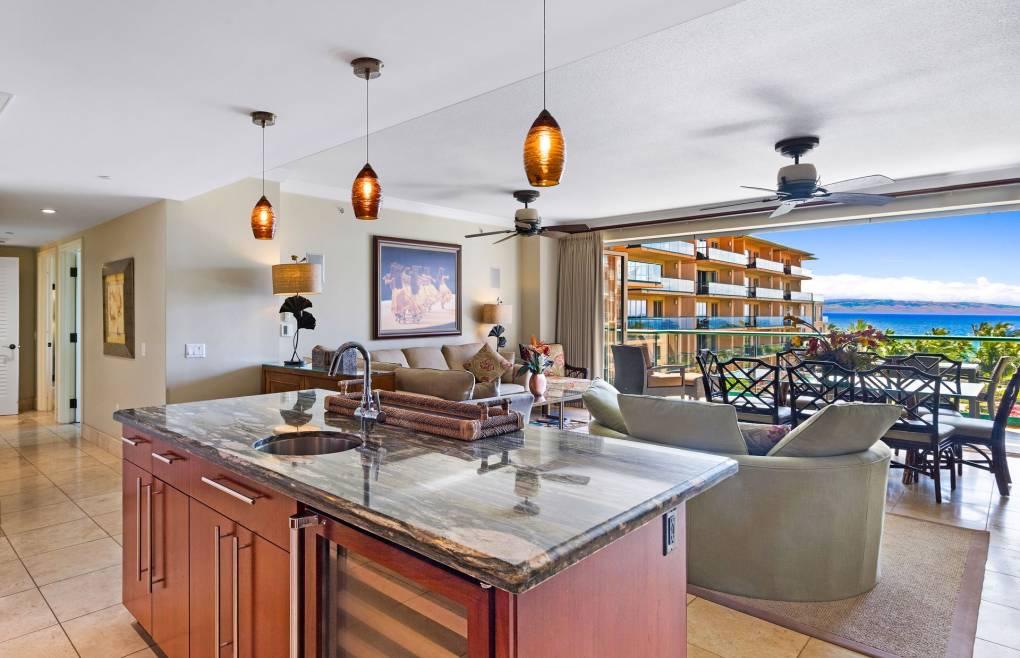 Featuring a modern chef's kitchen