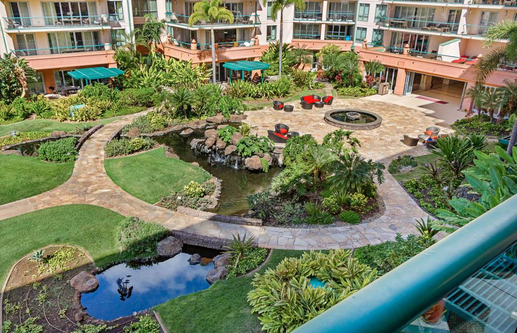 Meticulously maintained resort grounds